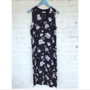 Equipment Femme Connery Floral Silk Midi Dress